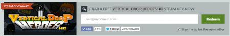 Игра Vertical Drop Heroes HD и как получить её бесплатно в Steam