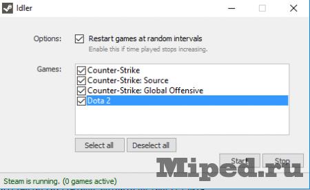 Как накрутить время в играх Steam с помощью IDLER